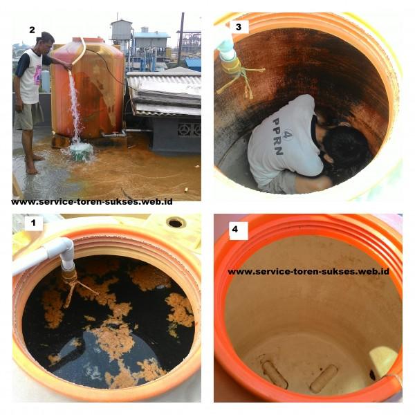 Berikut adalah foto toren - tangki air yg sudah beberapa tahun belum pernah di cuci.